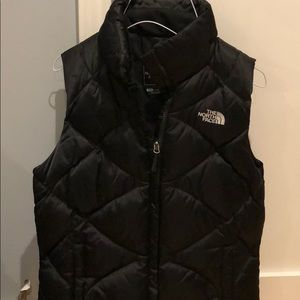 north face diamond quilted down vest